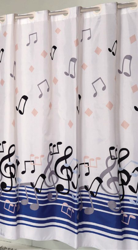 Note Shower Curtain Music