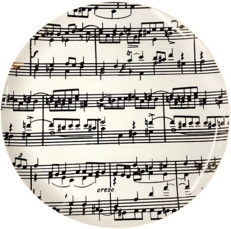 Plate Music Notes - Sturdy Plastic