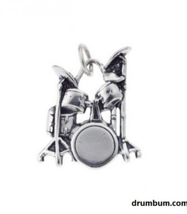 Silver Drumset Charm