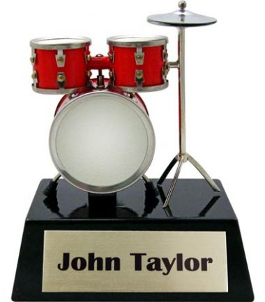 personalized drumset figurine trophy