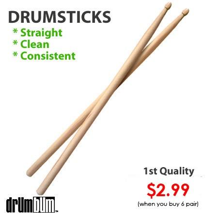blank 5a drumsticks the perfect lightweight drumsticks to save you money. Black Bedroom Furniture Sets. Home Design Ideas