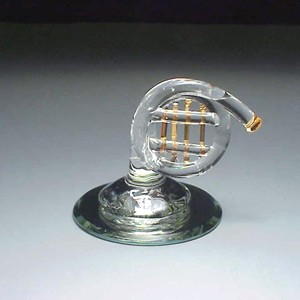 french horn glass figurine music gifts for musicians drummer gifts and occupation gifts. Black Bedroom Furniture Sets. Home Design Ideas