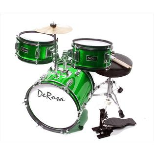 green kids drumset