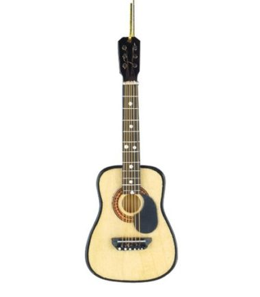 guitar christmas ornament