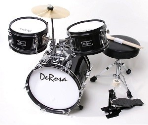 black kids drumset