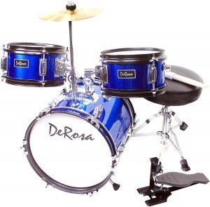 blue drumset child