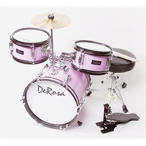 pink drumset for child