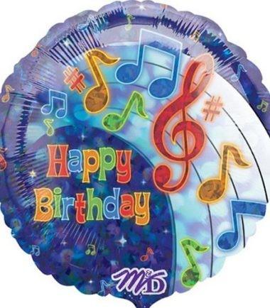 Music Notes Balloon Happy Birthday
