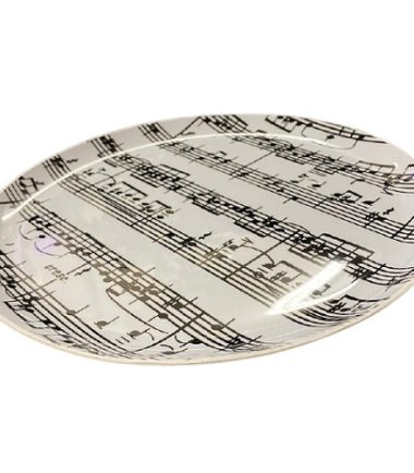 Large Plate with Music Notes