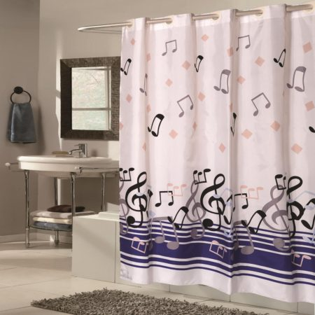 music notes shower curtain