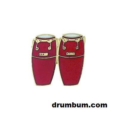 red conga drums pin