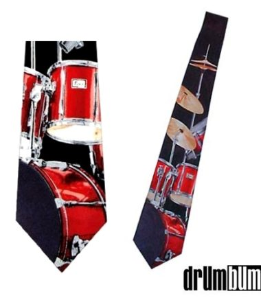 red drumset tie pearl