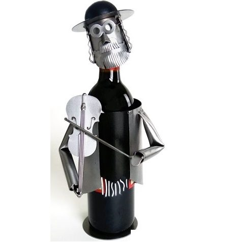 violin player wine holder