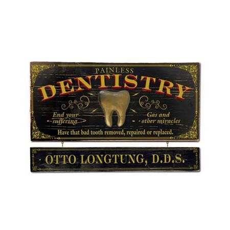 Dentist Hanging Sign - Personalized from DrumBum.com