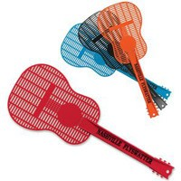 imprinted guitar fly swatter