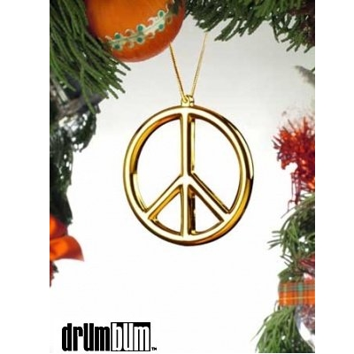 peace sign tree ornament