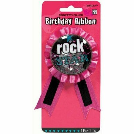 Birthday Ribbon Rock Star