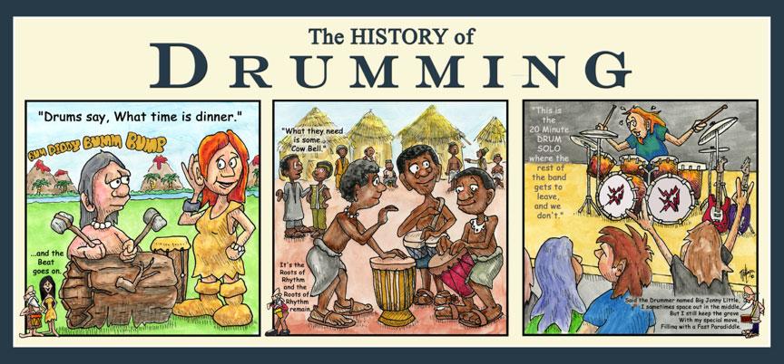 History of Drumming Print