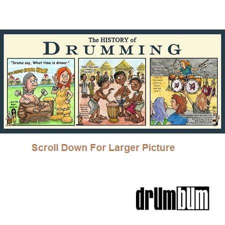 History of Drumming Cartoon Print