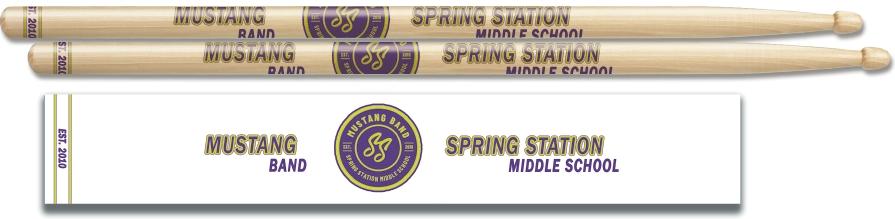 Custom Drumsticks for School Bands