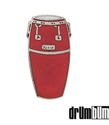 Red Conga Drum Pin