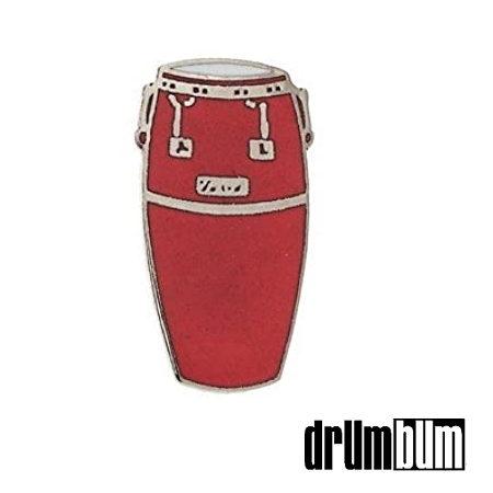 Red Conga Drum Pin