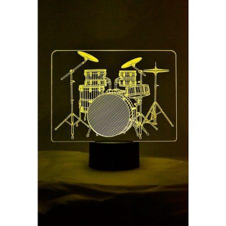 Drumset 3D Lamp